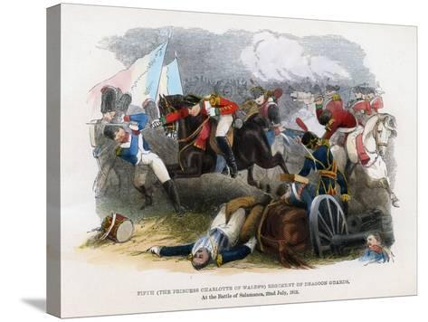 5th Regiment of Dragoon Guards, the Battle of Salamanca, 22nd July 1812--Stretched Canvas Print