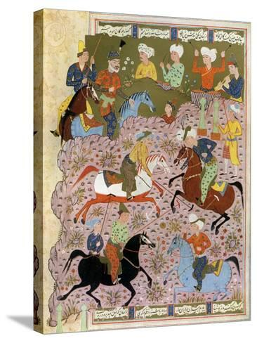 Polo in Persia in the 10th Century--Stretched Canvas Print