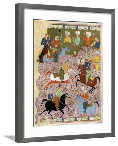 Polo in Persia in the 10th Century--Framed Art Print