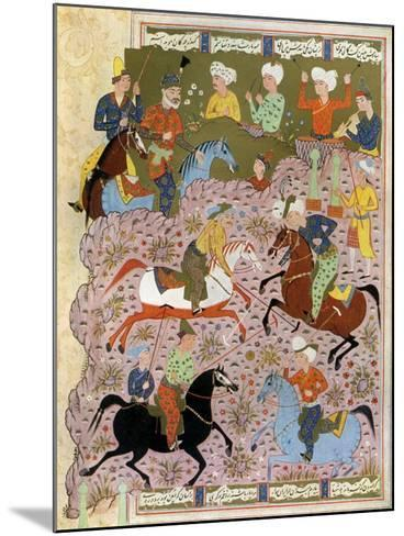 Polo in Persia in the 10th Century--Mounted Giclee Print