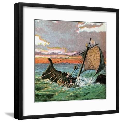 Wreck of the White Ship, 1120--Framed Art Print