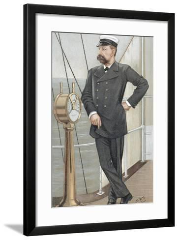 Albert I, Prince of Monaco (1848-192), Amateur Oceanographer, 1900-Spy-Framed Art Print