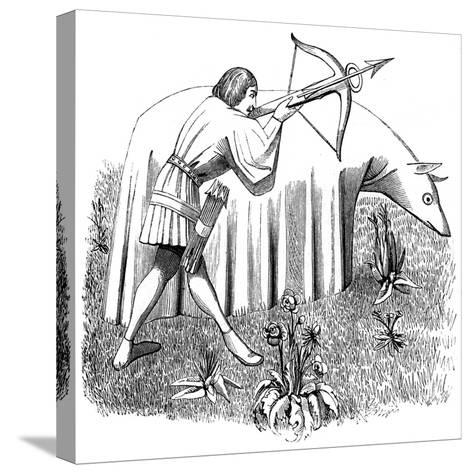 How to Carry a Cloth to Approach Beasts, 15th Century--Stretched Canvas Print