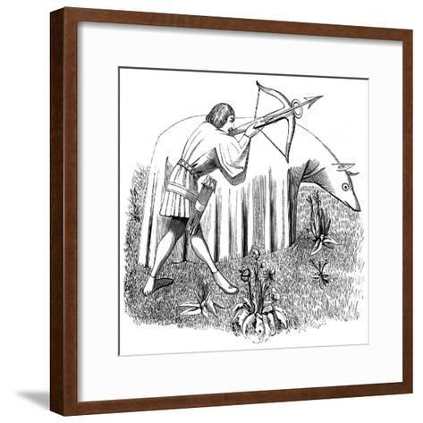How to Carry a Cloth to Approach Beasts, 15th Century--Framed Art Print