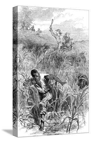 A Slave Hunt, USA, Mid 19th Century--Stretched Canvas Print