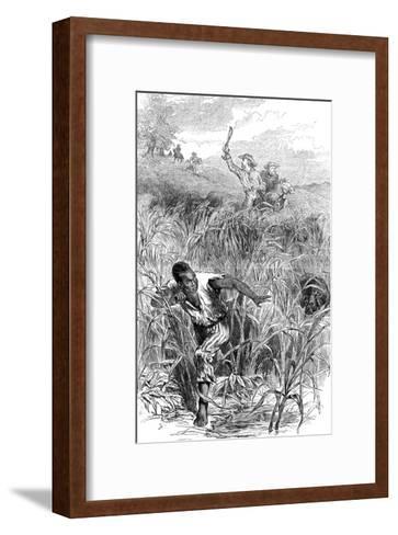 A Slave Hunt, USA, Mid 19th Century--Framed Art Print