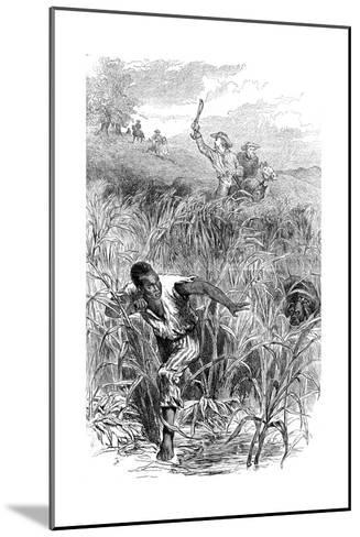 A Slave Hunt, USA, Mid 19th Century--Mounted Giclee Print