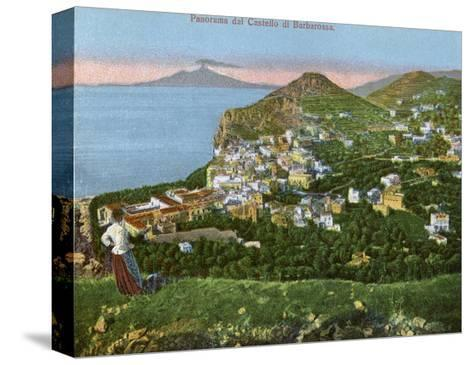 Panorama of the Castello Di Barbarossa, Capri, Italy, Early 20th Century--Stretched Canvas Print