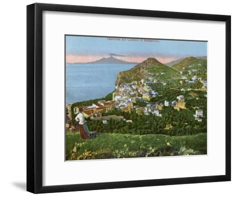 Panorama of the Castello Di Barbarossa, Capri, Italy, Early 20th Century--Framed Art Print