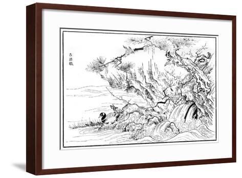 River Scene, 16th Century-Kano Motonobu-Framed Art Print