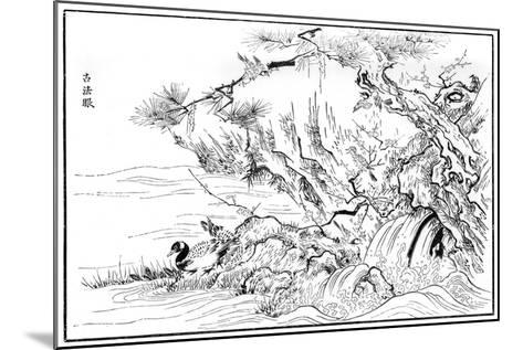 River Scene, 16th Century-Kano Motonobu-Mounted Giclee Print
