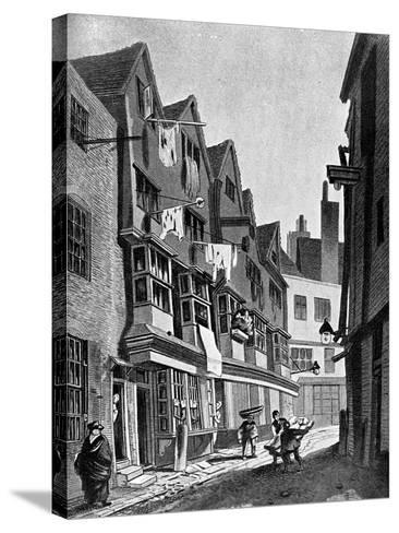 The Ancient Precincts of the Palace of Westminster, London, 1807-JT Smith-Stretched Canvas Print