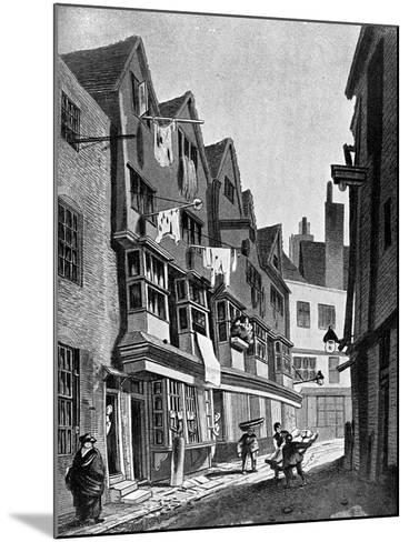 The Ancient Precincts of the Palace of Westminster, London, 1807-JT Smith-Mounted Giclee Print