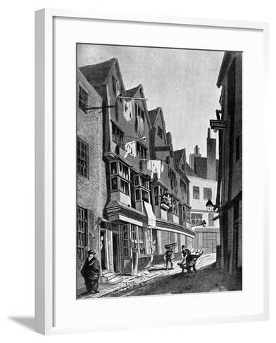 The Ancient Precincts of the Palace of Westminster, London, 1807-JT Smith-Framed Art Print