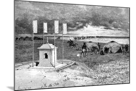 The Tomb of a Lama and an Encampment, Mongolian Desert, C1890-Ivan Pranishnikoff-Mounted Giclee Print