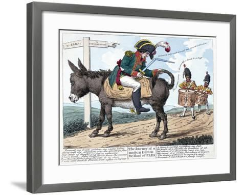 The Journey of a Modern Hero, to the Island of Elba, 1814--Framed Art Print