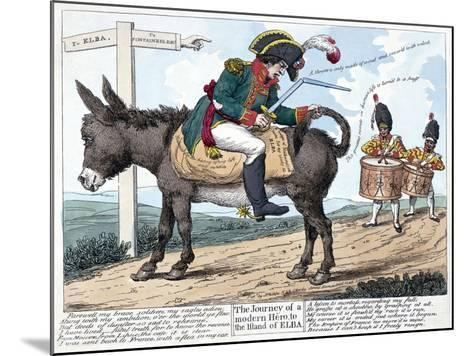 The Journey of a Modern Hero, to the Island of Elba, 1814--Mounted Giclee Print