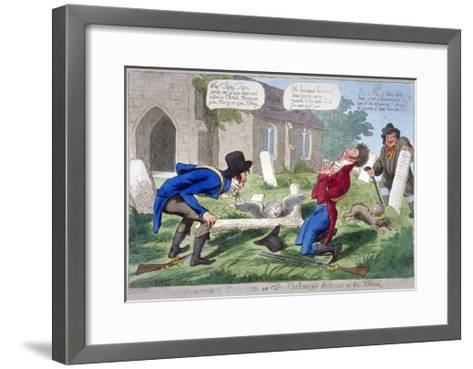 The Murder'D Cherub, or the Cockney's Distress at the Bloody-Deed, 1804--Framed Art Print