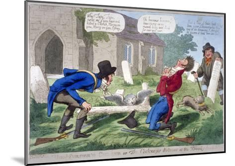 The Murder'D Cherub, or the Cockney's Distress at the Bloody-Deed, 1804--Mounted Giclee Print