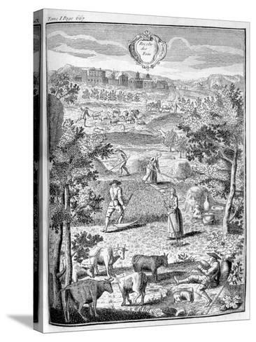 Harvesting the Hay, 1775--Stretched Canvas Print
