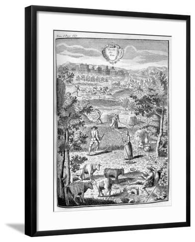 Harvesting the Hay, 1775--Framed Art Print