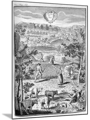 Harvesting the Hay, 1775--Mounted Giclee Print