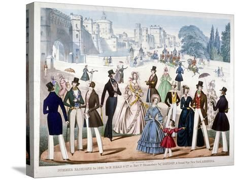 Summer Fashions for 1841, C1841--Stretched Canvas Print