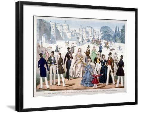 Summer Fashions for 1841, C1841--Framed Art Print