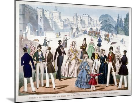 Summer Fashions for 1841, C1841--Mounted Giclee Print