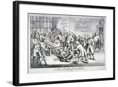 The Battle of Cornhill, 1769--Framed Art Print