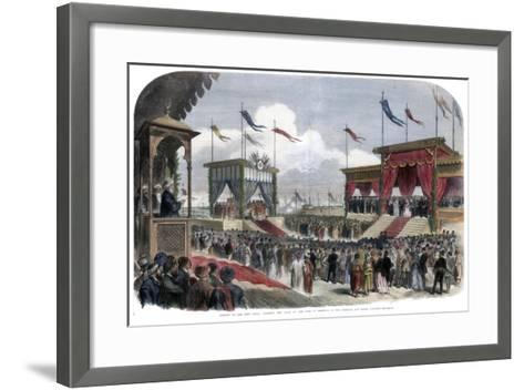 The Opening of the Suez Canal, Port Said, Egypt, 17 November 1869--Framed Art Print