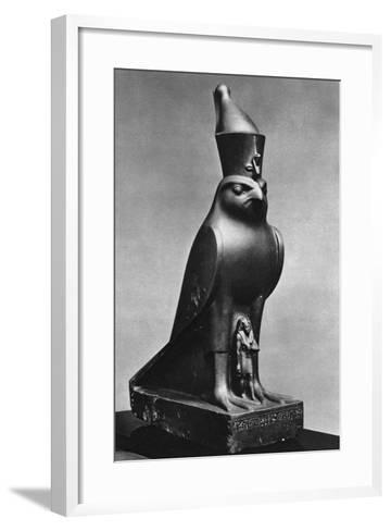 A Horus Falcon with King Nectanebo I (380 Bc-362 B), C370 BC--Framed Art Print