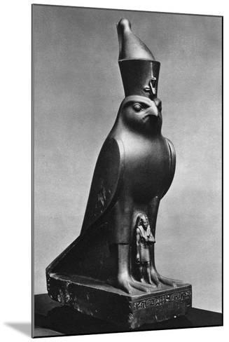 A Horus Falcon with King Nectanebo I (380 Bc-362 B), C370 BC--Mounted Giclee Print
