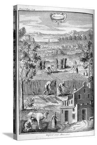 Harvest, 1775--Stretched Canvas Print