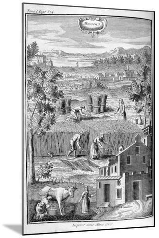 Harvest, 1775--Mounted Giclee Print