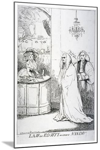 Law and Equity, or a Peep at Nando'S, 1787--Mounted Giclee Print