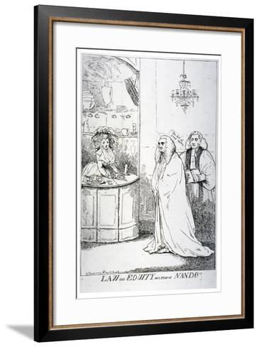 Law and Equity, or a Peep at Nando'S, 1787--Framed Art Print