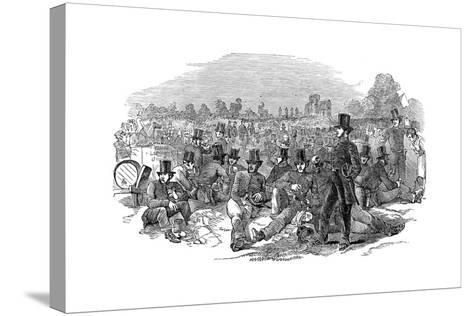 Chartist Agitation, the Police Force on Bonner's Fields, 1848--Stretched Canvas Print
