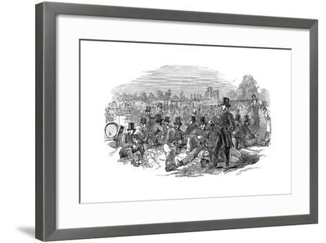 Chartist Agitation, the Police Force on Bonner's Fields, 1848--Framed Art Print