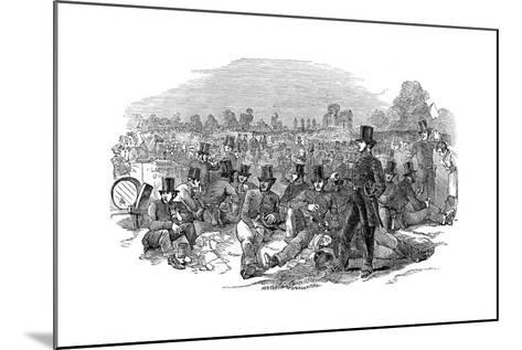 Chartist Agitation, the Police Force on Bonner's Fields, 1848--Mounted Giclee Print