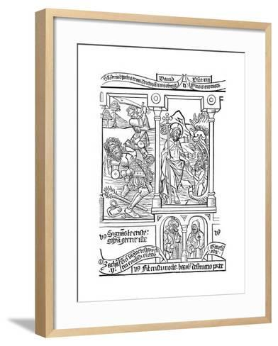 Page from the Biblia Pauperum, 15th Century--Framed Art Print