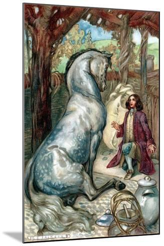 Lemuel Gulliver, Set Ashore after a Mutiny, Finds Himself in Kingdom of the Houyhnhns--Mounted Giclee Print