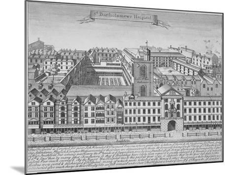 St Bartholomew's Hospital, Smithfield, City of London, 1723--Mounted Giclee Print