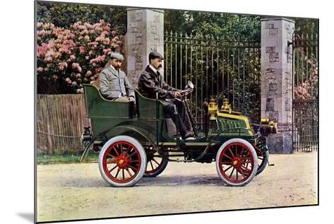 Two Edwardian Gentlemen Sitting in a Motor Car, 1902-1903-John & Son Swan-Mounted Giclee Print