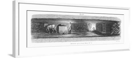 Interior of a Coal Mine, 1862--Framed Art Print