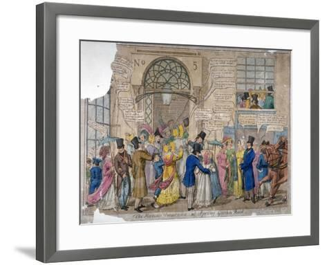 The Moving Panorama, or Spring Garden Rout..., 1823--Framed Art Print