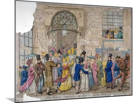 The Moving Panorama, or Spring Garden Rout..., 1823--Mounted Giclee Print