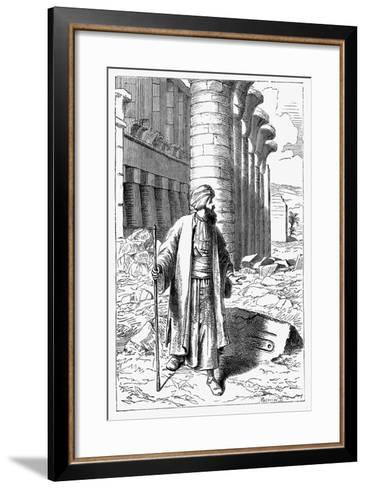 Giovanni Battista Belzoni, Italian Explorer and Antiquity Seeker, C1860--Framed Art Print