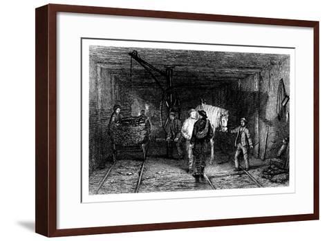 Underground Scene in a Coal Mine, 1860--Framed Art Print