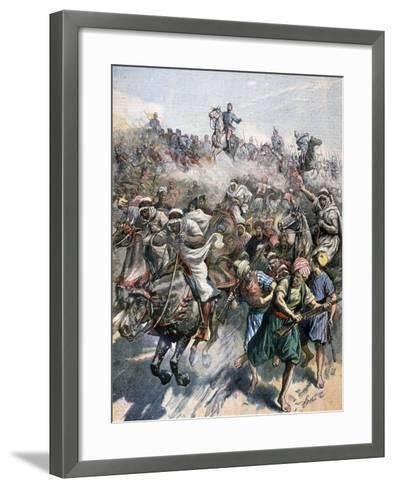 The Death of General Margallo, the Rif War, Morocco, 1893--Framed Art Print
